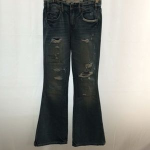 Abercrombie & Fitch 28 W Distressed Flare Jeans